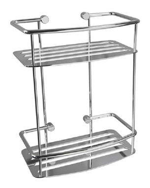 Miller Classic Chrome 2 Tier D-Shaped Shower Basket