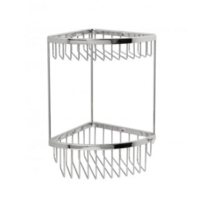 Miller Classic Chrome Corner Mounted Two Tier Basket