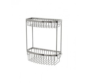 Miller Classic Wall Chrome D-Shaped Shower Basket