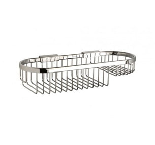 Miller Classic Chrome Wall Mounted 350mm Oval Basket