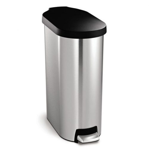 MIllers Cube Pedal Bin White With Satin Lid