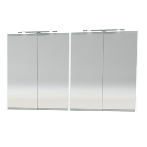 Millers London White 120cm Double Bathroom Cabinet