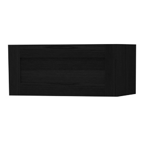 Millers London Black Oak Flap Door Storage Cabinet