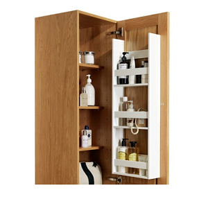 Millers New York Natural Oak Left 2 Door Tall Storage Cabinet