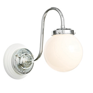 Millers Traditional Bathroom Lamp With White Backplate