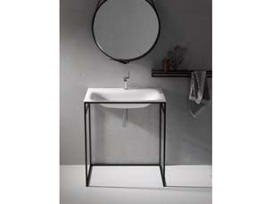 Bette Lux Shape Basin Frame 80X49 White