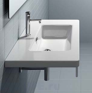 Bette Lux Wall Basin 100 X 48 Nth White