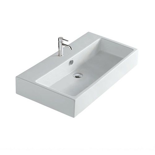 Bette Lux Wall Basin 80 X 48 Nth White