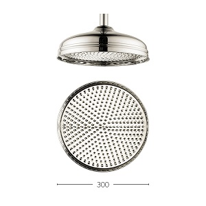 Crosswater Belgravia 12 inch Nickel Shower Rose Only FH12N