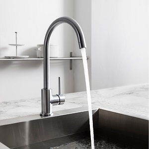 Crosswater Tropic Stainless Steel Side Lever Kitchen Mixer TP714DS