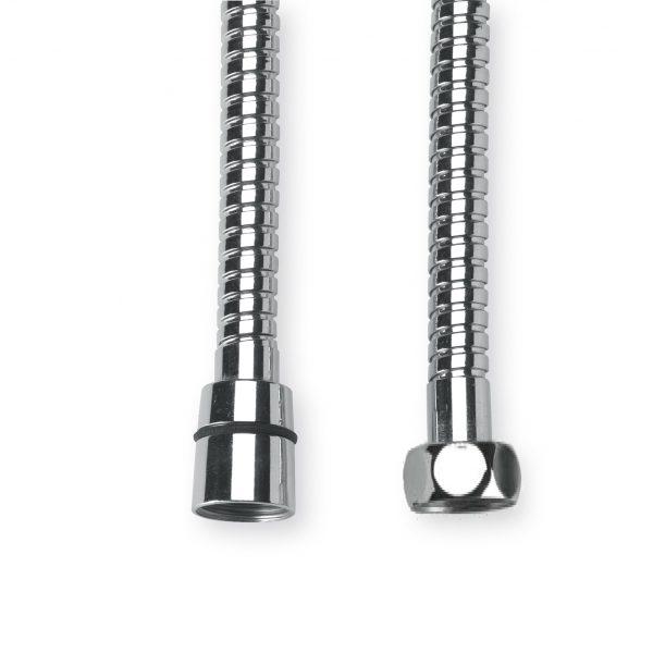 GRB Brass reinforced 175cm hose-chrome-0