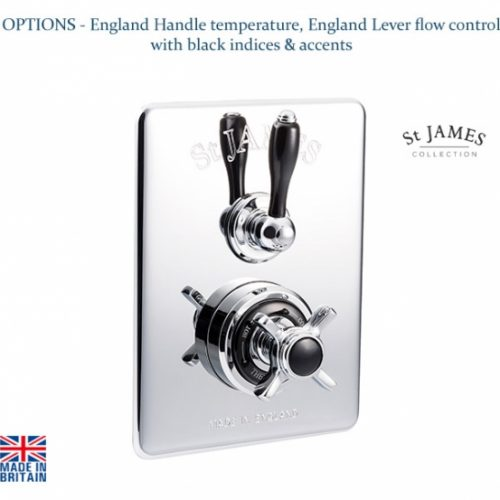 St James Classical Dual Control Concealed Thermostatic Shower Valve SJ7650CPELEHBK