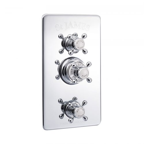 St James Concealed Thermo Shower Valve 2 Function Diverter And Flow Valve SJ7710CPLHLLBK