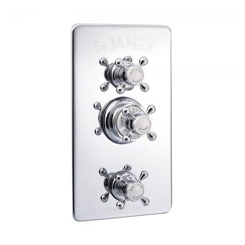 St James Concealed Thermo Shower Valve 2 Function Diverter And Flow Valve SJ7710CPLLBK