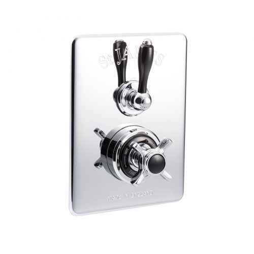 St James Concealed Thermostatic Shower Valve With 2 Function Diverter SJ7660CPELEHBK