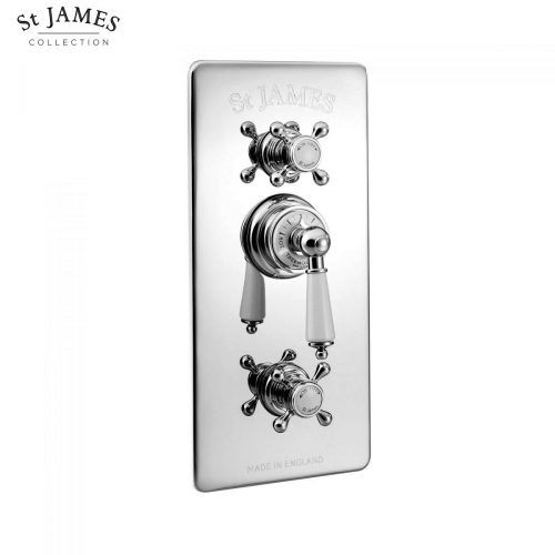 St James Concealed Thermostatic Shower Valve With Integral Flow Valves SJ7750CPEH