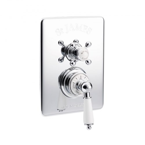 St James Dual Control Concealed Thermostatic Shower Valve SJ7610CPLHLLBK