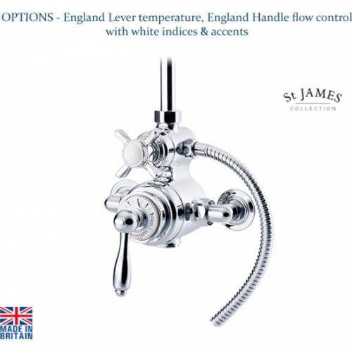 St James Dual Control Exposed Thermostatic Shower Valve SJ7410CPEHEL