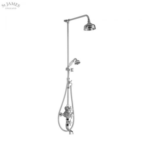 St James Exposed Thermostatic Shower Valve With Bath Filler SJ7300CPEH