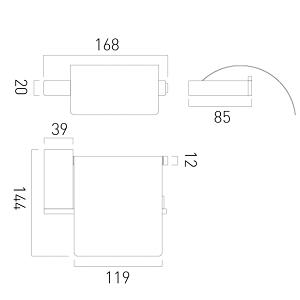 Vado Phase Chrome Covered Toilet Paper Holder
