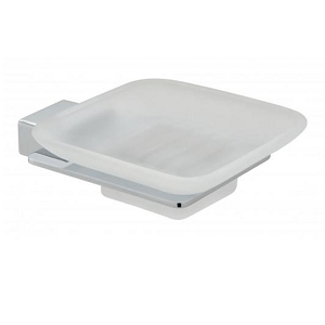 Vado Phase Wall Mounted Frosted Glass Soap Dish And Holder