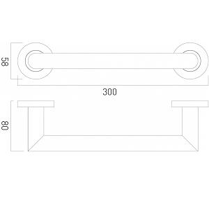 Vado Spa Wall Mounted Chrome 300mm Towel Grab Rail
