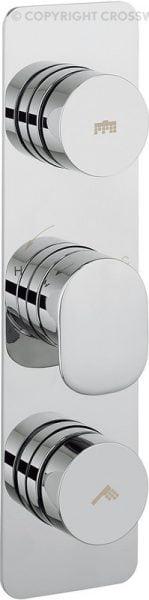 Crosswater Pier Dial Shower Valve 2 Control DIAL-PIER-3