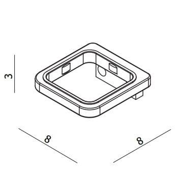Crosswater Wisp Single Accessory Wall Holder WP003C