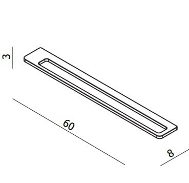 Bauhaus Wisp Single Towel Rail WP023C