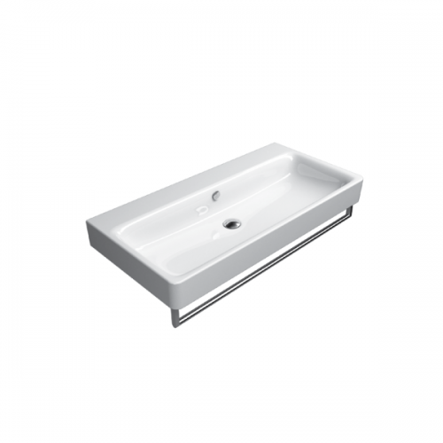 GSI Sand 100cm Wall Mounted 1 Tap Hole Basin With Overflow-0