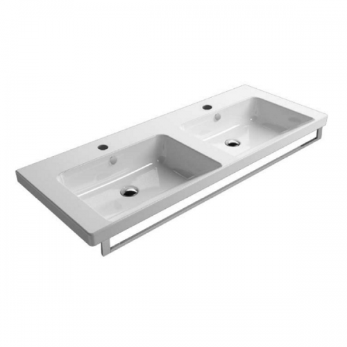 GSI Norm 125 Double Washbasin With Overflows GS8625-16898