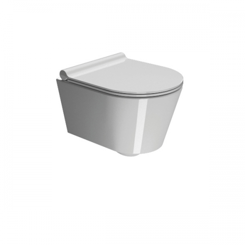 GSI Norm 45 45cm Short Projection Wall Hung Pan and soft close seat-0