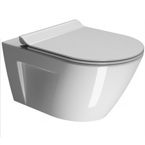 GSI Norm 50 Wall Hung 50cm WC Pan and Slim Seat -0