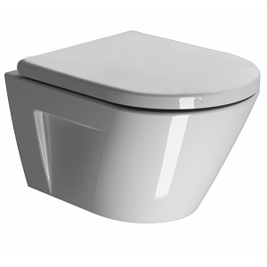 GSI Norm 50/f 50cm Wall Hung Rimless Swirl Flush Toilet including the seat-0