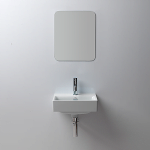 GSI Sand 40cm Wall Mounted 1 Tap Hole Basin With Overflow-0
