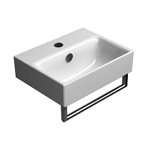 GSI Sand 40cm Wall Mounted 1 Tap Hole Basin With Overflow-13702