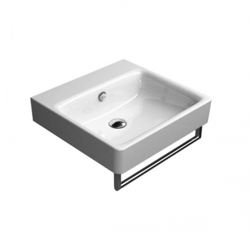 GSI Sand 50cm Wall Mounted 1 Tap Hole Basin With Overflow-16549