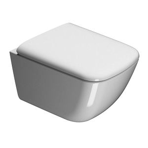 GSI Sand 50 Wall Hung 500mm Pan and seat GS9018 GSMS86CN-0