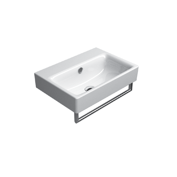 GSI Sand 55cm Wall Mounted 1 Tap Hole Basin With Overflow-16553