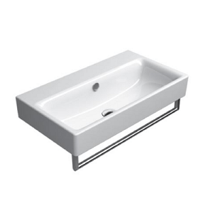 GSI Sand 70cm Wall Mounted 1 Tap Hole Basin With Overflow-0