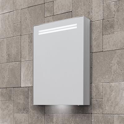 Bathroom Origins Space II 50cm Single LED Illuminated Cabinet-14082