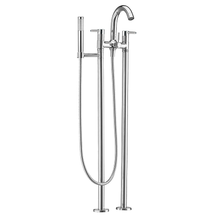 Just Taps Plus Florence Floor Standing 2H Bath Shower Mixer-0