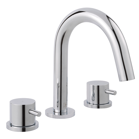 Just Taps Plus Florence 3 Hole Deck Mounted Basin Mixer-0
