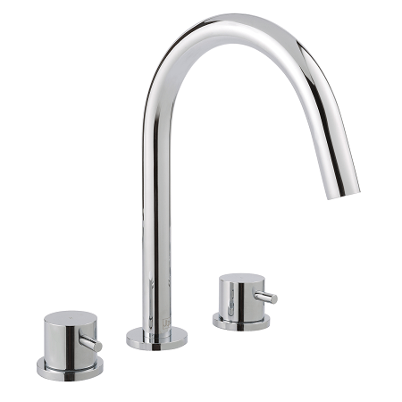 Just Taps Plus Florence 3 Hole Deck Mounted Bath Filler-0