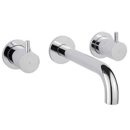Just Taps Plus Florence 3 Hole Wall Mounted Basin Mixer-0