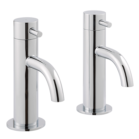 Just Taps Plus Florence Chrome LP 0.2 Basin Taps 55011-0