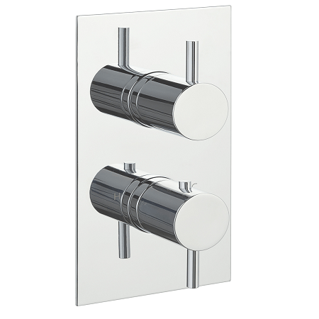 Just Taps Plus Florence Concealed Square 2 Outlet Valve-14189