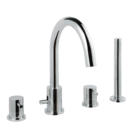Just Taps Plus Florence Deck 4 Hole Bath Shower Mixer-0