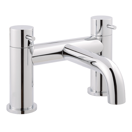 Just Taps Plus Florence Chrome Deck Mounted Bath Filler-0