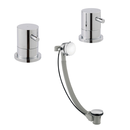 Just Taps Plus Florence Free Flow Bath Filler With Valves-0